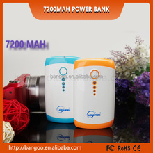 2015 newest top quality power bank with led light 5v power supply cheapest super fast 7200mah power bank