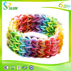 Crazy DIY dual-layer buy rubber bands,customized bracelets, plastic wristbands