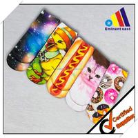 wholesale 3D digital printing short socks for children & lady