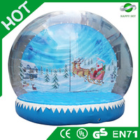 Brand new Christmas Party giant inflatable human snow globe for sale
