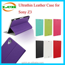 Good-quality Compact Ultra Thin Leather Mobile Phone Case for Sony Xperia Z3