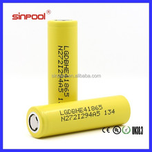 Factory Price!Sinpool LGDBHE4 18650 Battery Lg he4 18650 2500mah battery for taiwan electric bicycle