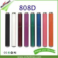Newest high quality wholesale 808d-1 atomizer/male 808d batteries/808d Ecigs 808d batteries