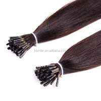 2015 Hot Selling Wholesale Russian Remy I Tip Double Drawn Hair Extensions