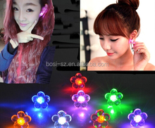 fashion Stainless Steel Earrings glowing LED colourful stud earrings light up dance party ,pub