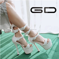 European fashion sexy personality hollow rivets t-strap women high-heeled shoes China