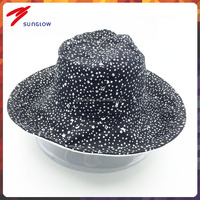 Cotton Fabric Sun protection wide brim bucket hat wholesale