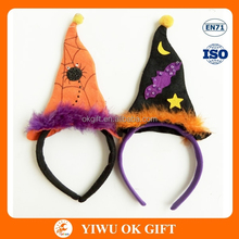 2016 New desighs non- woven halloween witch hat headband /halloween hair accessories