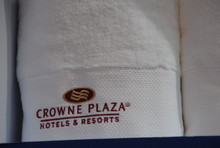 Hotel 5 Star Terry Towel Customized Logo 16 Single Yarn Cotton Terry