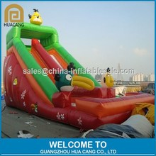 Popular game character inflatable water slide with pool