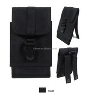blackCompitable CS War Game Paintball Tactical Radio Bag GPS Cover Military Hunting Molle Shell Holder Carrier Pouch