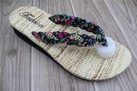 2015 Elastic paillette beautiful high heel slipper new model women beach sandals wholesale