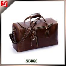 100% full grain leather Mens Leather Weekend Travel Duffel Bags