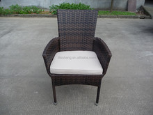 2015 new style high quality stack rattan furniture patio wicker chair with wholesale price