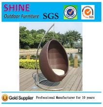 Hot Hanging Swing Rattan & Stainless Steel Base Outdoor garden furniture