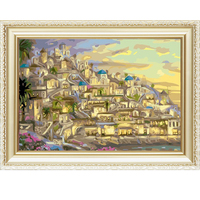 Europe city view pattern canvas oil painting by numbers kits