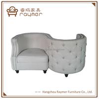 Modern classic button linen s shaped kiss chair unique designer chairs