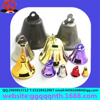 10mm mini small metal iron gold silver bronze brass colorfull christmas horn bell Clocks shaped bell Temple bell