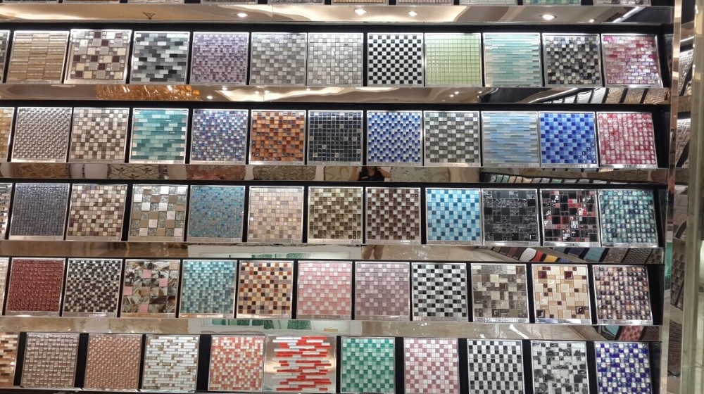 Decorative Wall Tile Design Crystal Glass Mosaic Tile