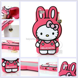 3D soft silicone hello kitty phone case for Iphone 6 and Samsung Note2/3/S5