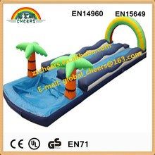 dual lane inflatable slip and slide with pool for cool
