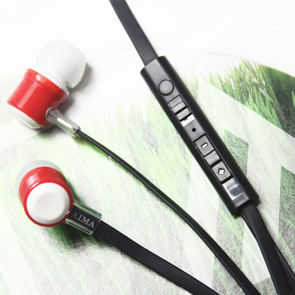 2014 AIMA Earphone for wholesale , earphone for supermarket , with Mic,Volume control and shift mode,for Mobile phone