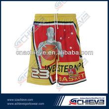 Wholesale Customized Basketball Shorts Yellow