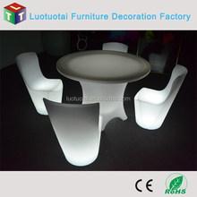 Modern LED Resterant Table LED Light up Dinner Table for Hotel / PE material led dining table