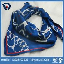 2015 New Design fashion Printing Pure silk scarf for women