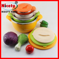 colorful stainless steel Thermal Hot Casserole Large Insulated Hot Pot Set food casserole