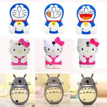 2015 3D Japan Cartoon Cute Totoro kitty doraemon soft silicone case For Samsung galaxy s3 s4 s5 s6 Note2 Note3 Note4 A3 A5 A7 E7