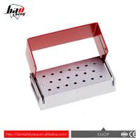 A dental diamond burs holder block aluminium autoclave disinfection box 20-hole