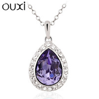 High Quality Crystal 18k Gold Plated Necklace Wholesale10580