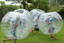Compensation for free once damaged adult human sized soccer bubble ball, inflatable bumper ball, knocker ball