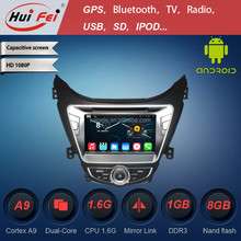 2015 best car dvd player for Hyundai Elantra dvd with reversing camera 7 inch 2 din android car dvd