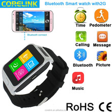 2015 Android Smart watch phone with 2G/bluetooth---best gift