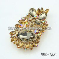 big size fancy glass crystal brooch wholesale DRD-138