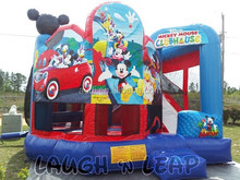 wholesale Mickey Mouse Clubhouse Combo inflatable castle bounce with slide/infatable combo moonwalks
