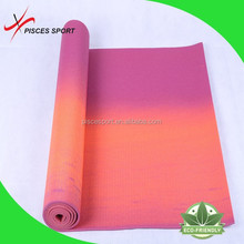 2015 OEM quality printed yoga mat , eco friendly PVC foldable yoga mat material factory price