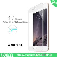 Carbon Fiber 3D Round Edge Screen Protector Ultra-clear Ballistic Glass [Tempered Glass] Screen Protector Skin for Apple iPhon
