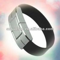 Creative Gift High Quality 4GB Black Leather Wrist Strap 2.0 USB Flash Drive Disk