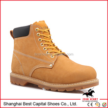 Nubuck leather upper goodyear shoe/ Rubber outsole boot/ Industrial safety footwear