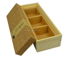 Handmade Natural Wooden Gift Box Wooden Tea Box Wooden Box