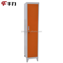 China commercial sigle door gym metal storage locker with foot