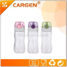 Bottom lid novelty transparent water drinking bottle for children