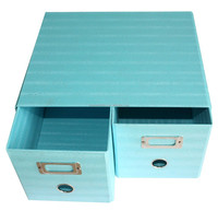 Meiya RQ-1514 Better Price Custom Printed Foldable Cardboard Drawer Box, Fancy Flower Cardboard Office Furture