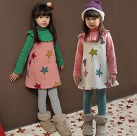 2015 girls cute dresses girl princess dress children autumn popular clothing kids new t -shirt