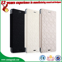 Carefully selected materials PU Leather Flip Cover Case for Sony Xperia Z3 Cover from china factory