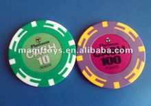 Professional Casino Poker Chip/Custom Casino Chips 14.5g D43x3.3mm with Logo Printing