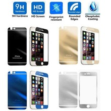 Mirror Effect Color Tempered Glass Screen Protector For iPhone 5/5s 6 6Plus